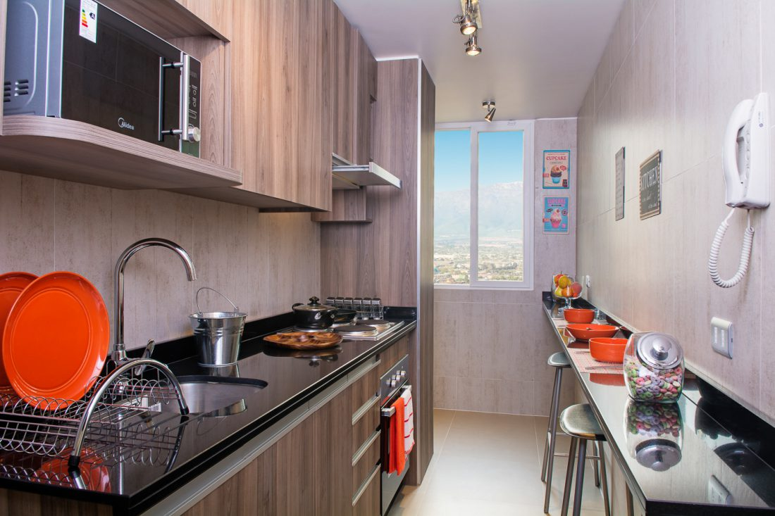 Los tipos de cocina en departamentos y casas for Cocinas modernas para departamentos